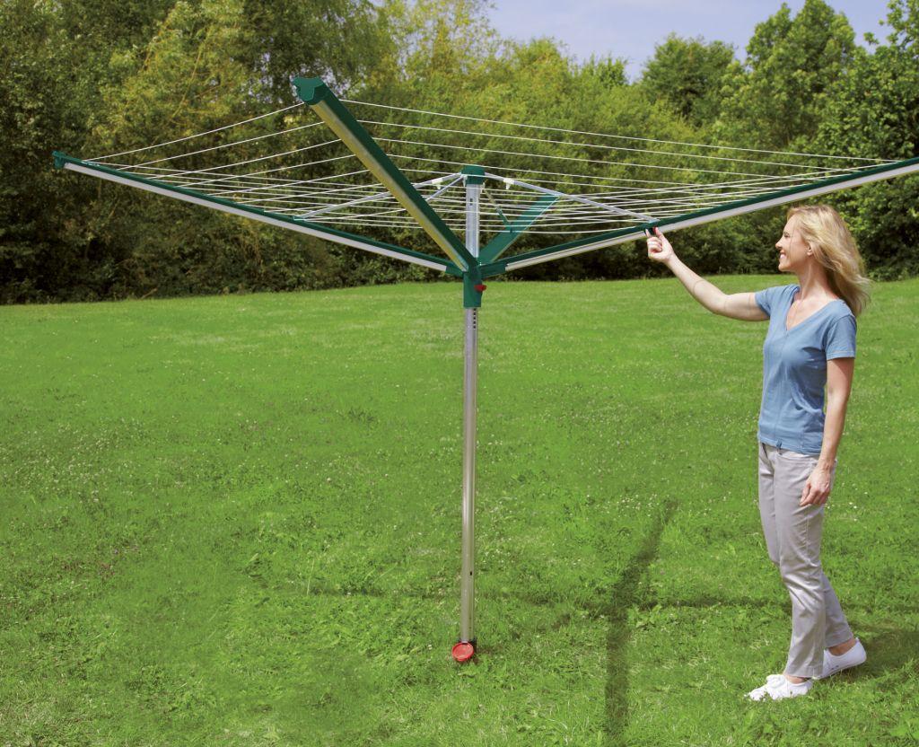 Zahradn oto n su k na pr dlo linomatic 400 deluxe for Etendoir a linge exterieur parapluie