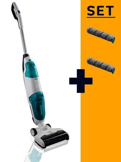 LEIFHEIT Aku vysavač a mop Regulus Aqua PowerVac s náhradními čistícími válci LEIFHEIT 11922
