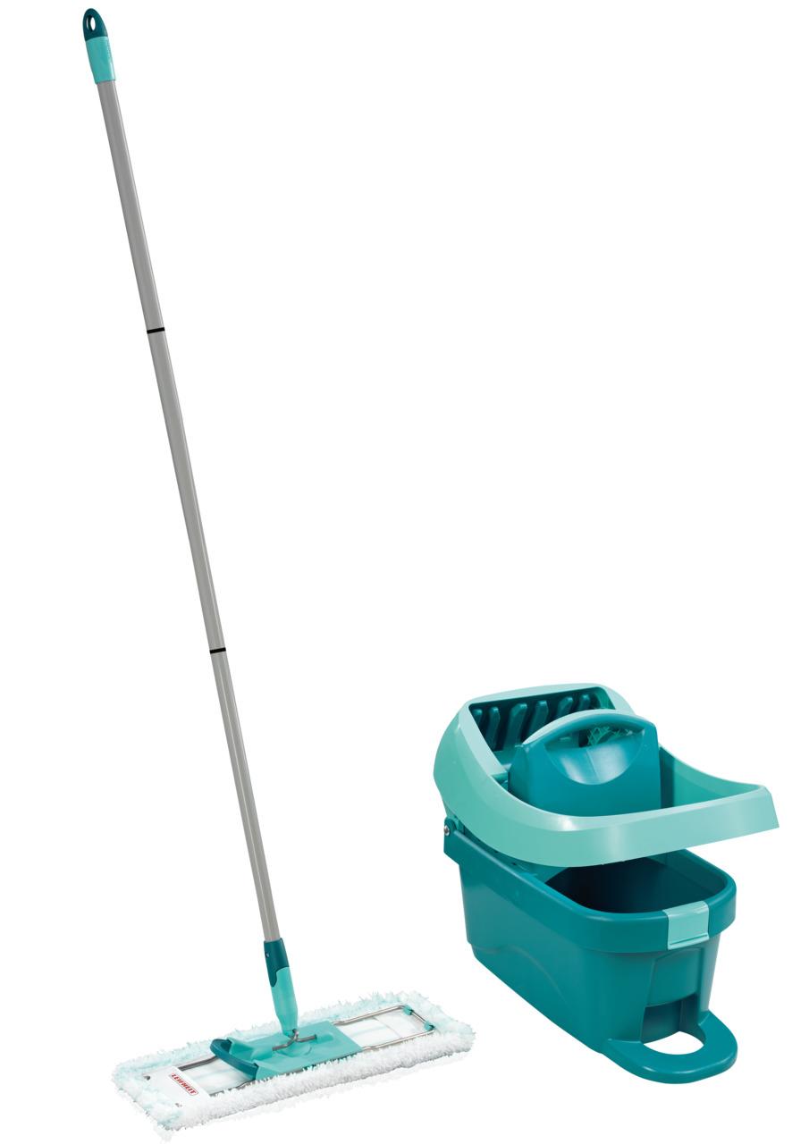 LEIFHEIT Set podlahový mop PROFI + vědro na kolečkách PROFI s nášlapným ždímáním LEIFHEIT 55096