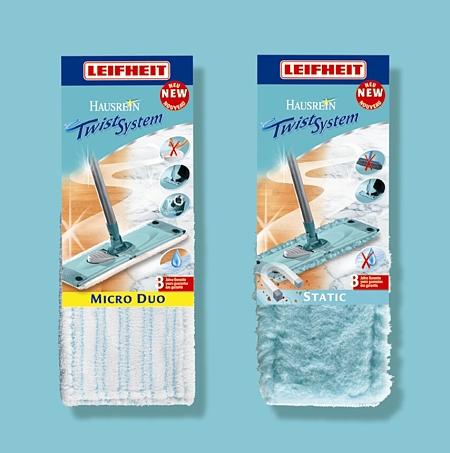 LEIFHEIT Set náhradních návleků k mopu TWIST a COMBI, 33 cm LEIFHEIT 55330+55320
