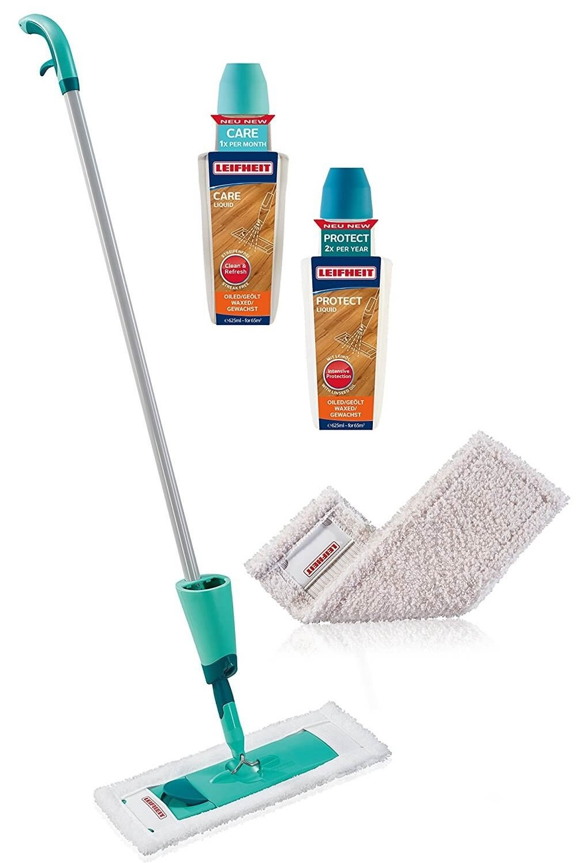 LEIFHEIT Startovací set CARE & PROTECT pro péči o dřevěné olejované či voskované podlahy LEIFHEIT 56499